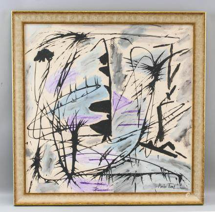 Perle Fine 1905-1988 American Abstract Oil/Canvas