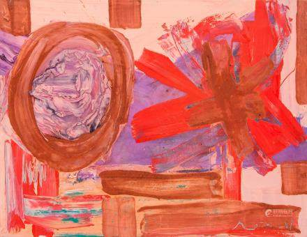 American Abstract OOC Signed Beiersdorf Gallery