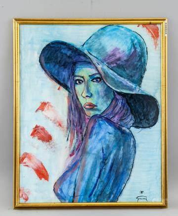 Rene Gruau French Modernist Oil on Canvas