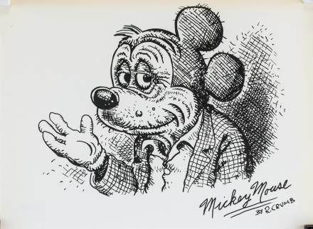 American Pop Ink on Paper Signed R. CRUMB