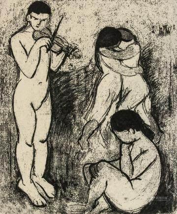 Henri Matisse French Fauvist Signed Linocut E.A.