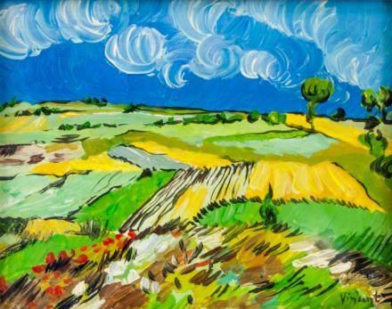 Dutch Post-Impressionist Oil Signed Vincent