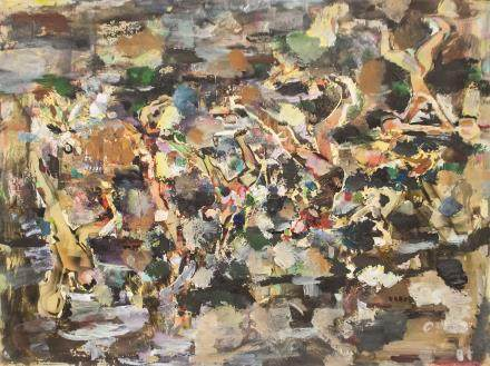 Shoo Ching Wang 20th Century Chinese Oil on Canvas