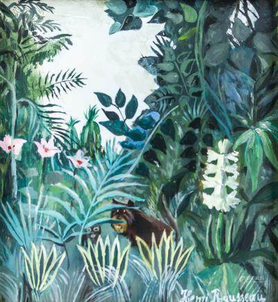 Henri Rousseau Post-Impressionist Gouache