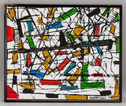 Norman Lewis American Abstract Oil on Canvas