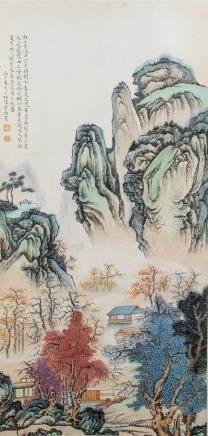 Chen Shaomei 1909-1954 Chinese Watercolor Scroll