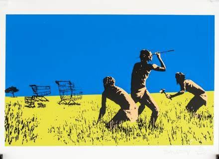 Banksy British Pop Art Signed Lithograph 26/400