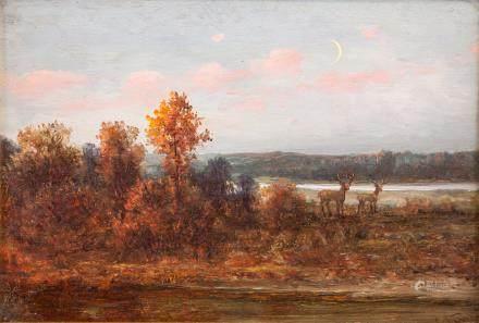 Oldrich Farsky b.1860 American Oil Landscape
