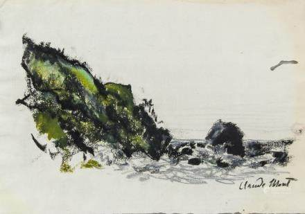 Style of Claude Monet French Gouache on Paper