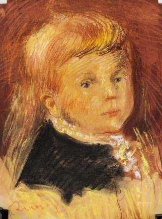 French Impressionist Pastel Signed Renoir