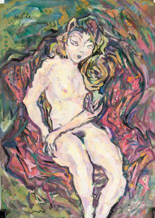 Chaim Soutine Russian-French Expressionist Gouache