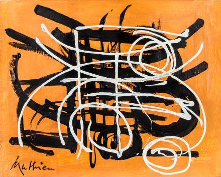 Georges Mathieu Abstract Painting Oil on Canvas