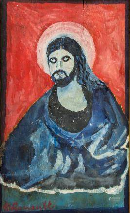 Georges Rouault French Fauvist Oil on Panel