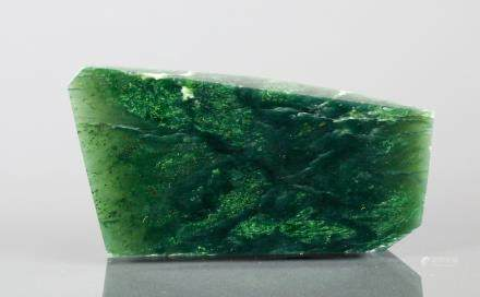 264ct. Polished Green Jade Double Sided Wedge
