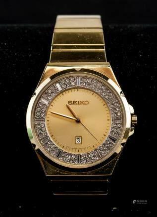 Seiko Unisex Diamond Watch RV $395
