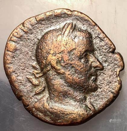 251-253 Roman Empire Trebonianus Gallus Sestertius