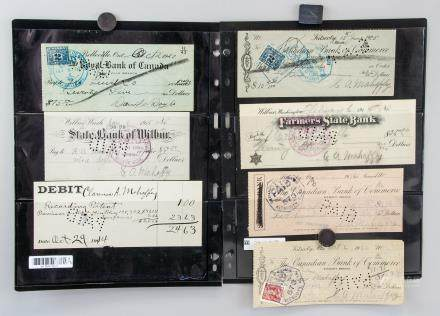 7 Assorted US and Canadian Cancelled Cheques