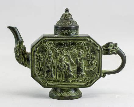 Chinese Bronze Teapot with Qianlong Mark