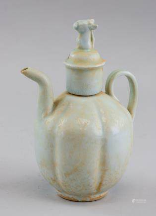 Chinese Dinyao Style Porcelain Wine Pot