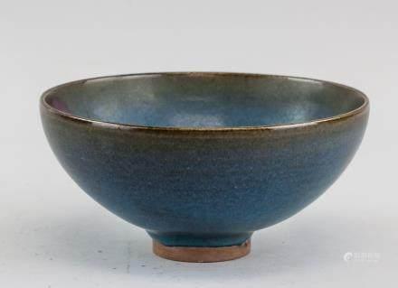 Chinese Junyao Style Flambe Glazed Porcelain Bowl