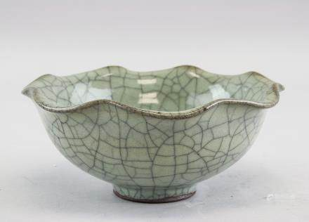 Chinese Song Guanyao Style Crackle Porcelain Bowl