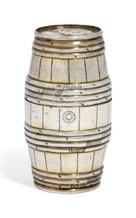 A GERMAN SILVER-GILT DOUBLE BEAKER