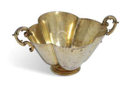 A GERMAN SILVER-GILT SMALL DISH