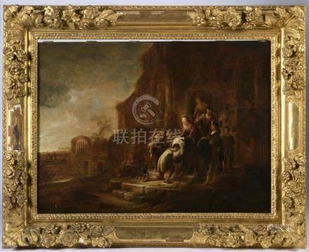 JACOB WILLEMSZ de WET (Harlem, 1610 - Harlem, 1674).L'enfant Prodigue vêtu de n