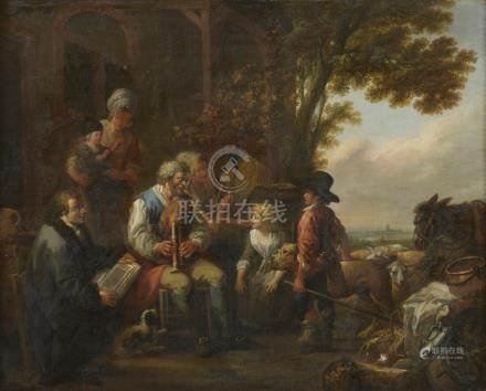 Louis WATTEAU de Lille (Valenciennes, 1731 - Lille, 1798).Le philosophe méditan