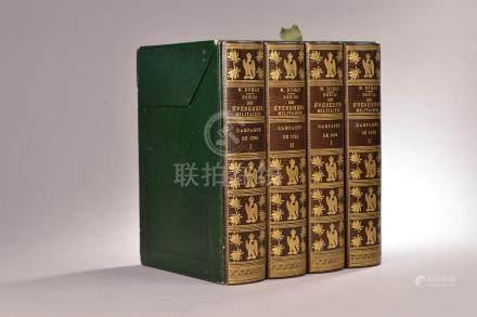 NOTES autographes par NAPOLÉON Ier (1769-1821) en marge de 4 volumes du Précis
