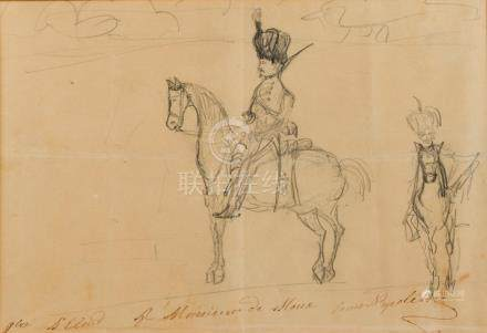 NAPOLÉON IV (1856-1879) Prince Impérial, fils de Napoléon III. DESSIN original,