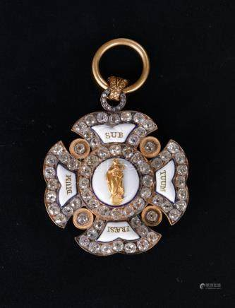 Allemagne Bavière. Ordre de Sainte-Anne de Munich, fondé en 1783. Croix de Chan