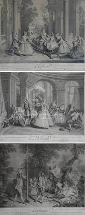 Nicolas LANCRET (1690-1743) (d'après)-Nicolas IV LARMESSIN (1684-1753) L'enfanc