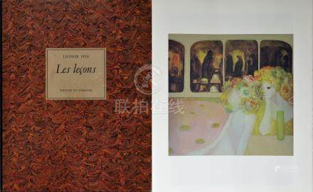 Leonor FINI (1907-1996) Les Leçons. Bruxelles, Tamanoir, 1976. Ouvrage In-plano