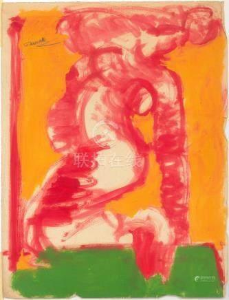 Fikret MOUALLA (1903-1967) Étude de nu, circa 1952. Gouache sur papier signée e