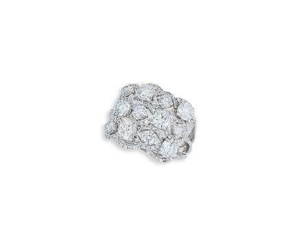 鑽石戒指鑲18K白金