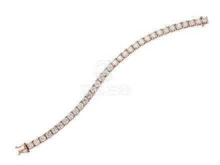 鑽石手鍊鑲18K玫瑰金