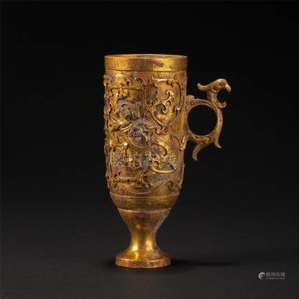 CHINESE PURE GOLD CUP HAN DYNASTY