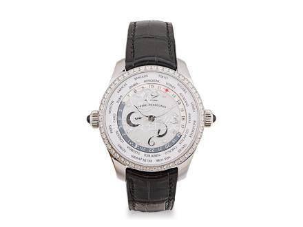 未使用 芝柏 鋼貝殼面鑽石圈及字自動世界時間能量儲存顯示透視背皮帶腕錶