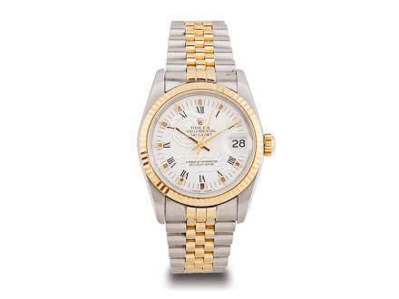 """勞力士 蠔式 """"DATEJUST"""" 金鋼自動日曆鏈帶女裝腕錶"""