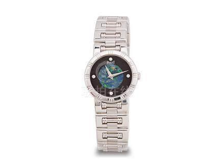 """伯爵 """"DANCER"""" 18K白金歐泊安力士面鑽石字石英機芯鏈帶女裝腕錶"""