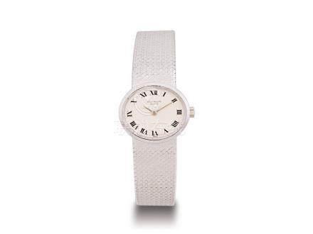 百達翡麗 18K白金手動上鍊鏈帶女裝腕錶