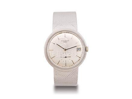百達翡麗 18K白金自動日曆鏈帶腕錶