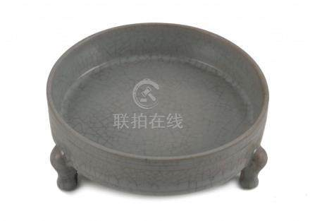A Song Style Ru Kiln Censer or Brush Washer
