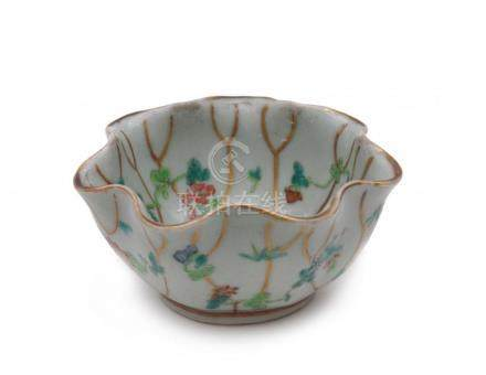 A flower-shaped bowl