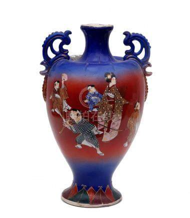 An Amphora Vase by Kinzan, Satsuma
