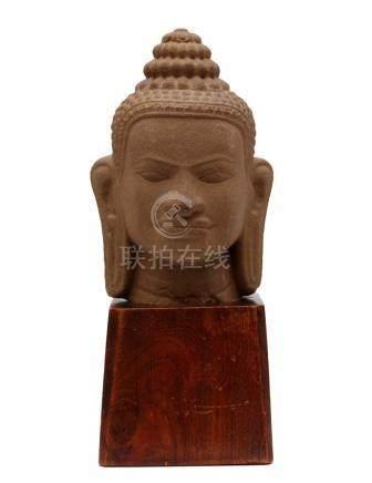 Buddha Stone Head in Khmer style