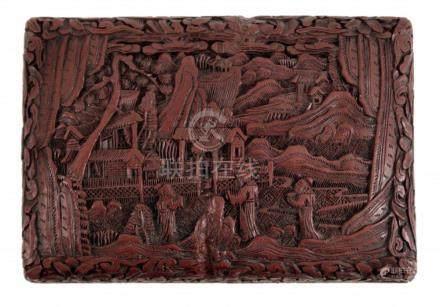 A Red Lacquer Cinnabar Box