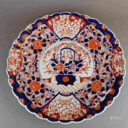 Porcelain plate - China, Imari style with rich hand-painted