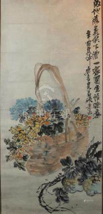 Chinese scroll painting - Wu Changshuo (1844 - 1927), Flower
